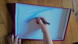activité manuelle creation creatif enfant fabriquer un aquarium imprimer kit gratuit crayon