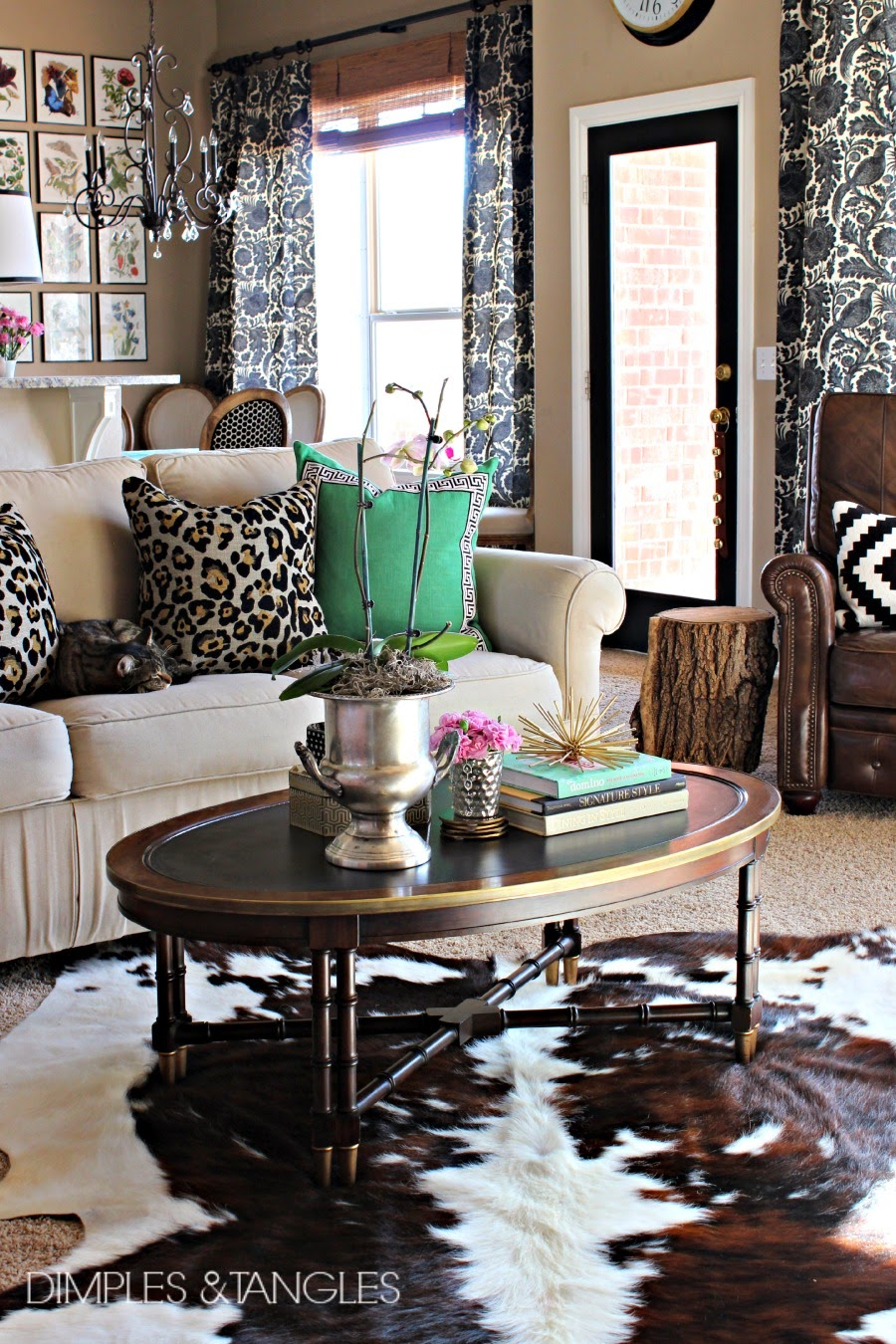 MY THOUGHTS ON COWHIDE RUGS - Dimples and Tangles