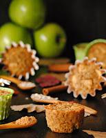 Muffins de avena con manzana y aceite de coco