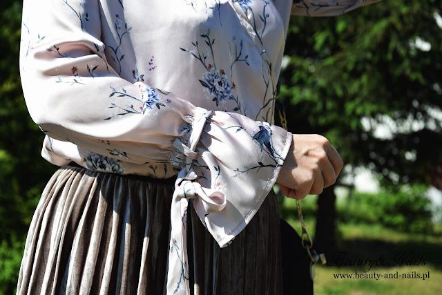 ZAFUL - pleated midi SKIRT/spódnica i TOP/bluzka z długim rękawem :)