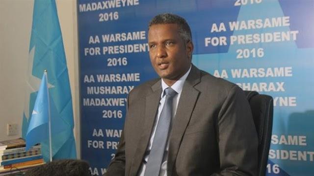 Somali security forces arrest ex-presidential candidate Abdirahman Abdishakur in raid