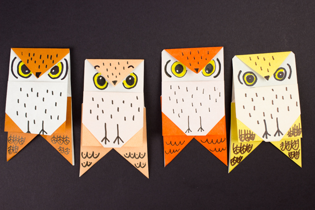 how to fold easy owl origami- great fall kids craft!
