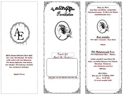 Contoh undangan Pernikahan Sederhana Word