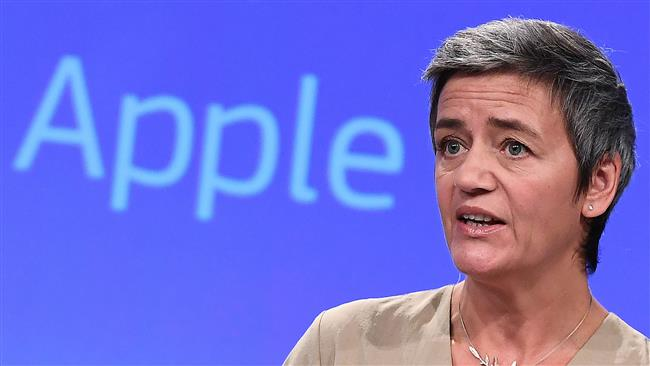 EU  Commissioner for Competition Margrethe Vestager calls for collecting taxes from Apple, Amazon