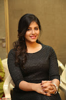 Anjali in Black Short Dress at Chitrangada Movie Success Meet ~  014.JPG