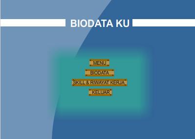 tampilan biodata