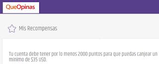 puntos minimos en queopinas.com