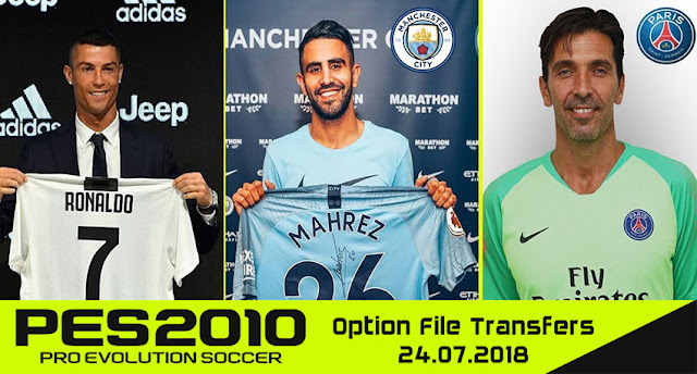 PES 2010 Next Season Patch 2019 Option File Transfers 24 07 2018