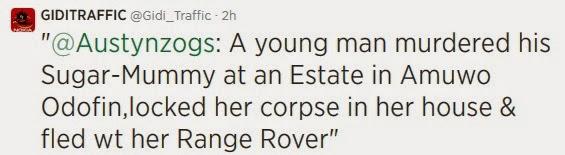 Guy kills Sugar Mummy Steals her Range Rovers