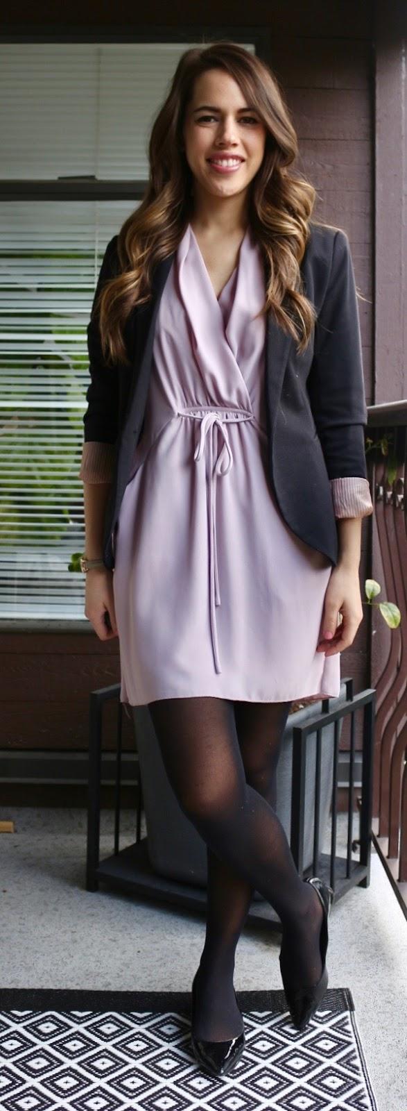 Jules in Flats - Aritzia Wilfred Sabine Dress with Blazer
