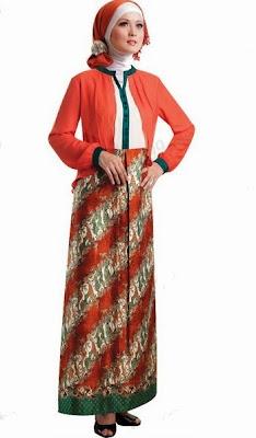 Contoh Model Baju Muslim Batik Terbaru Kumpulan Model Baju
