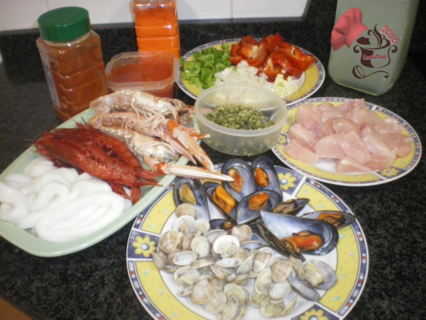 ingredientes paella