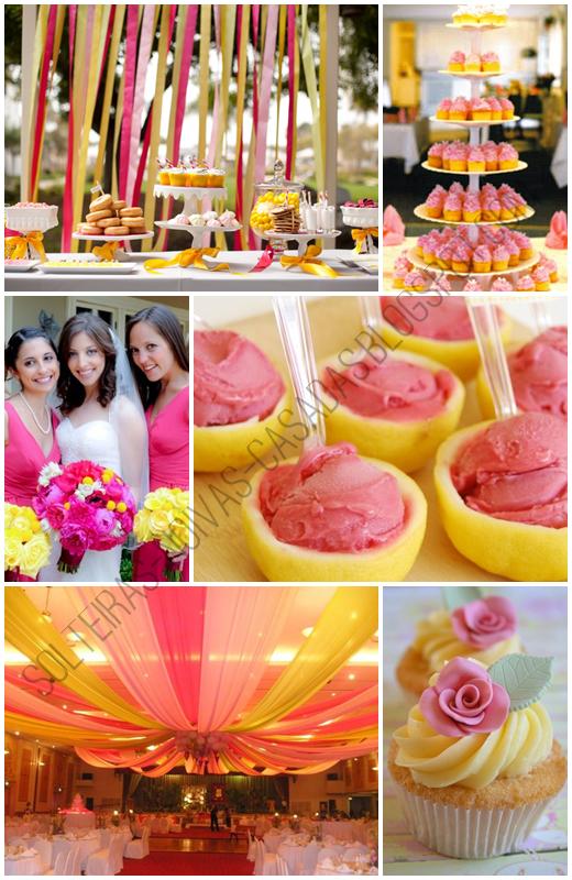 Casamento Amarelo e Rosa