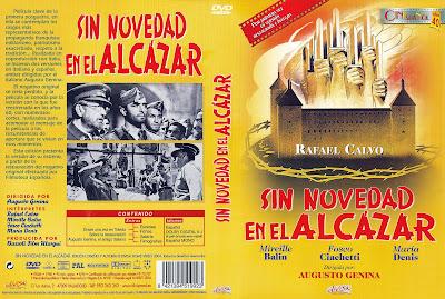 Carátula dvd: Sin novedad en el Alcázar / Película / El rechazo del pasado