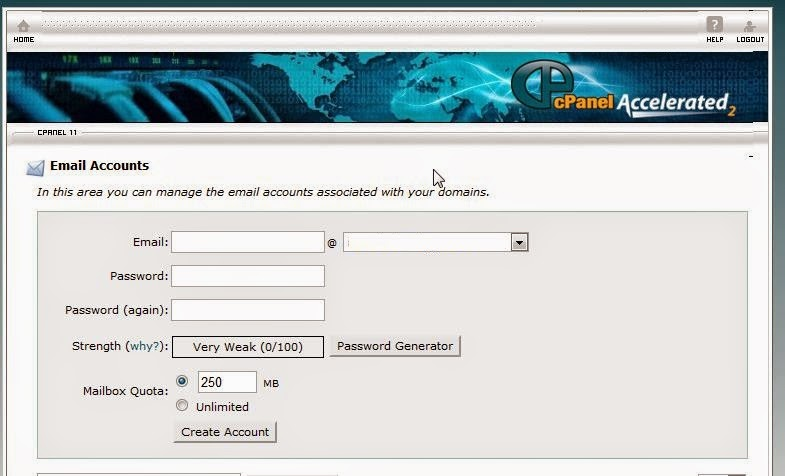 New Email Account Creation in cPanel