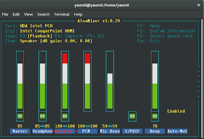 Memperbaiki Sound atau Suara Hilang di Fedora