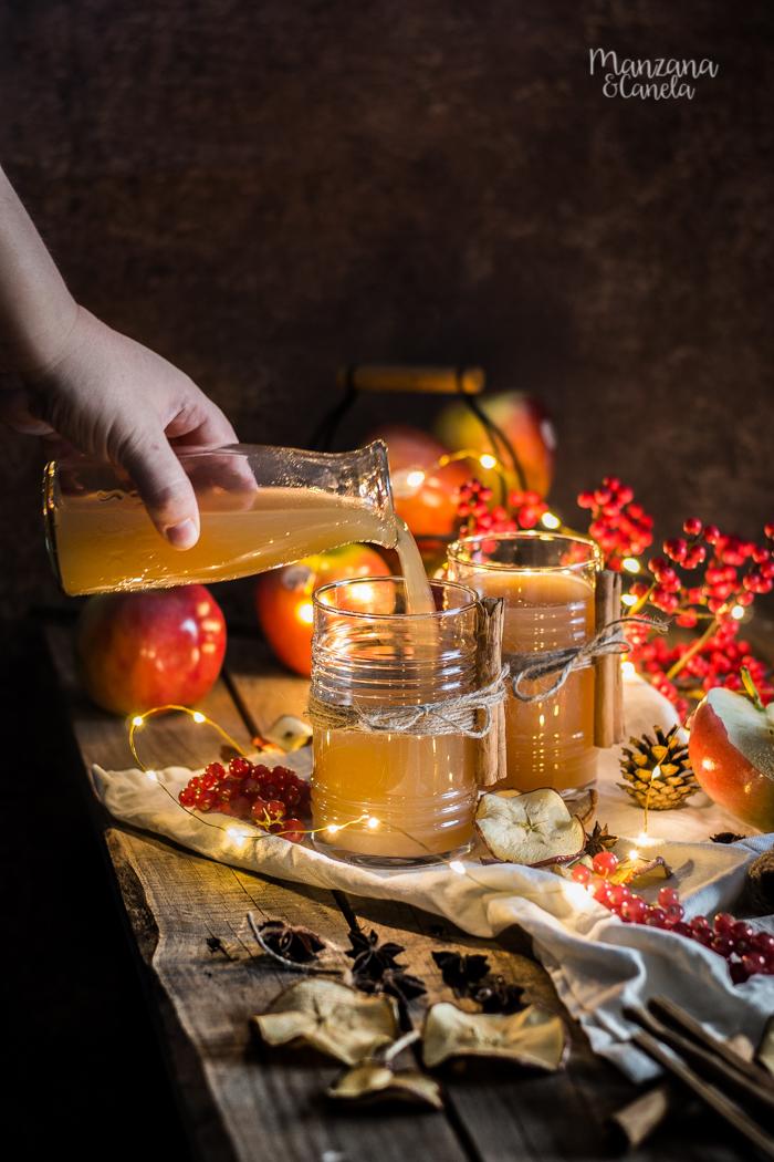 Christmas Apple Cider: sidra caliente navideña. Receta de Navidad.