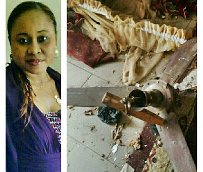 Lady Escapes From Gas Explosion Which Destroyed Her House