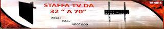 """staffa tv porta muro braccio trustech 16814 32-70"""""""