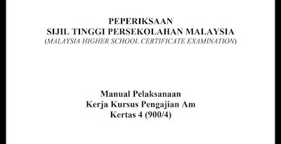 Contoh dan Tema Kerja Kursus Pengajian Am STPM 2019