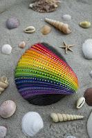 Manualidades : conchas pintadas a mano LGBT