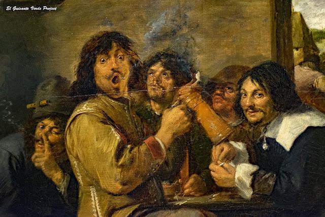 Adriaen Brouwer, 'Los Fumadores' - Metropolitan Museum of Art, New York  por El Guisante Verde Project