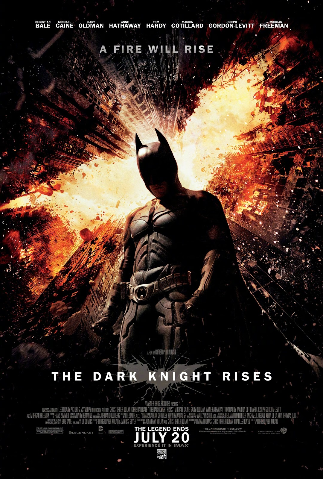 BATMAN THE DARK KNIGHT RISES POSTER TRAILER VIDEO CRISTOPHER NOLAN CRISTIAN BALE