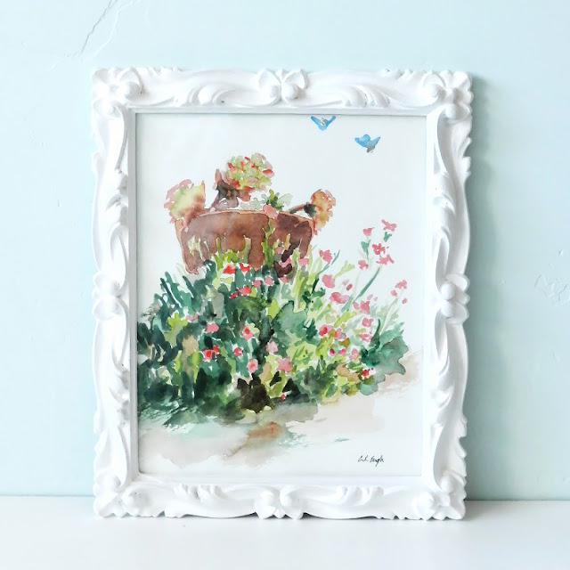 Paint a thrift store frame to decorate your home!