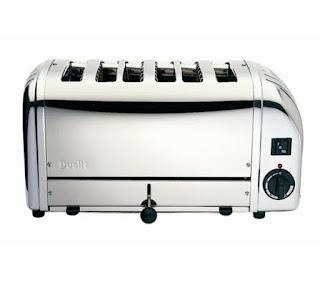 Six slice bread toasters