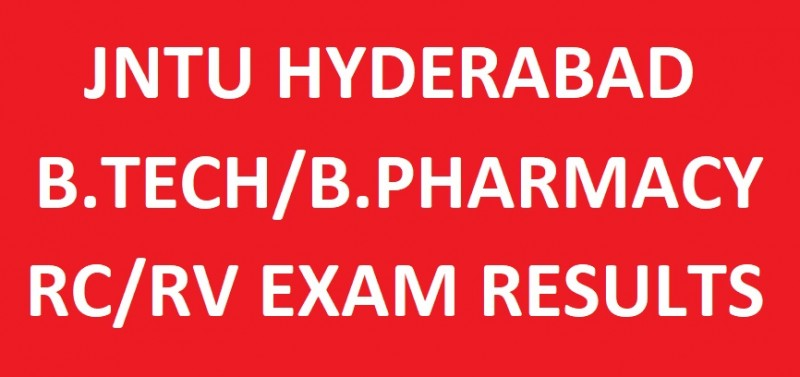 JNTUH B.Tech/B.Pharmacy RCRV Results
