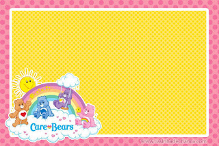 Care Bears Free Printable Invitations, Labels or Cards.