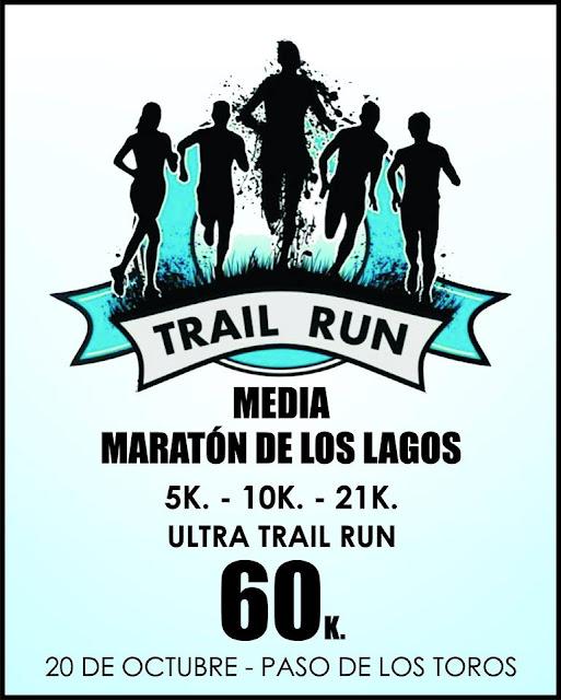 Media maratón de los lagos (trail, 60k 21k 10k 5k - Paso de los Toros - Tacuarembó, 20/oct/2019)