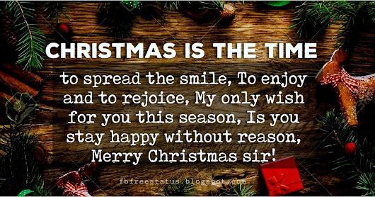 Christmas Messages to Boss https://fbfreestatus.blogspot.com/2018/11 ...