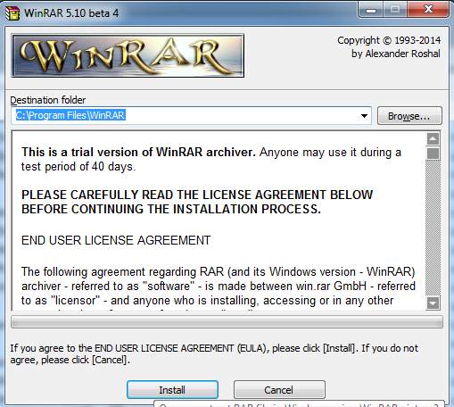 Extract WinRaR file in windows 8 and windows 8.1