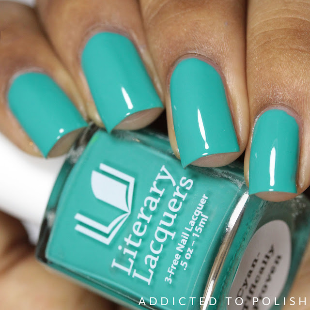 Literary Lacquers Cyan-Tifically Proven Creme a la Mode summer 2016