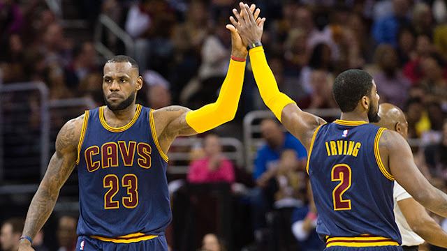 LeBron James and Kyrie Irving Assists