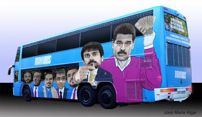 Tramabús, el autobús de Podemos.