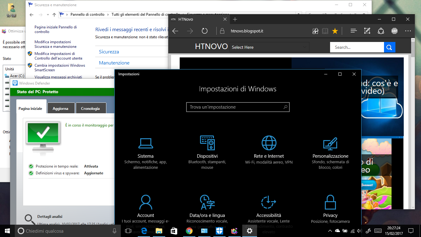 Windows 10 Manutenzione