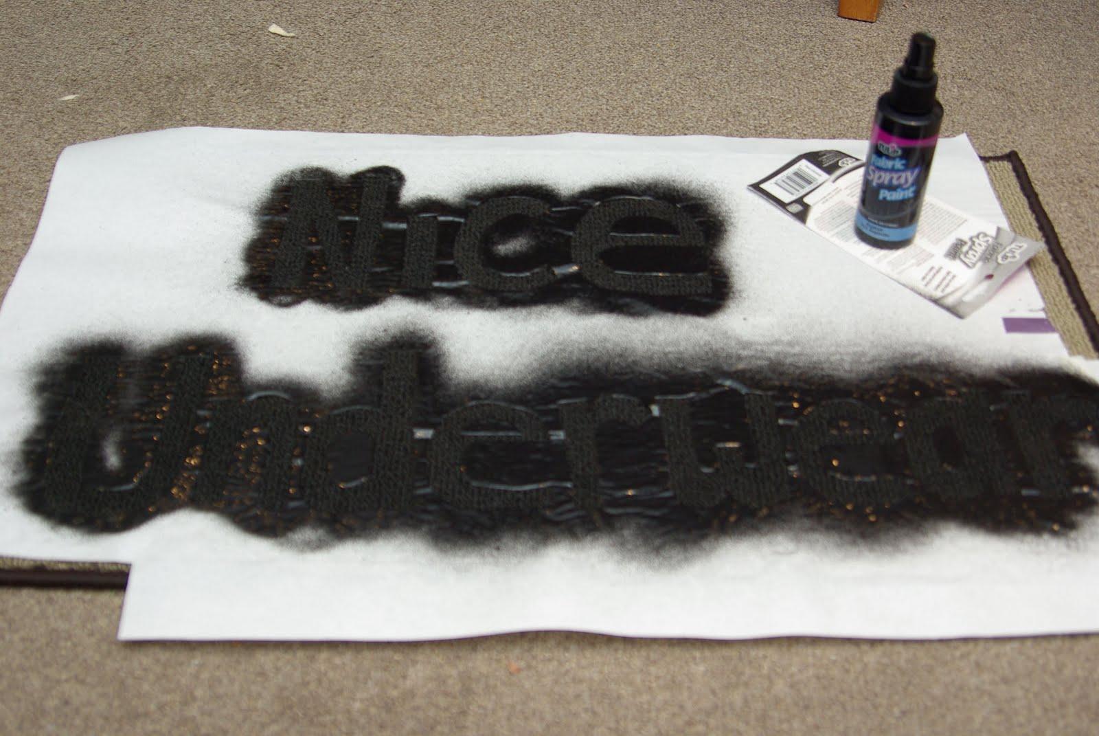 DIY | Freezer Paper Stenciled Doormat