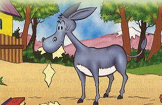 clasica lectura infantil: EL burro y los libros