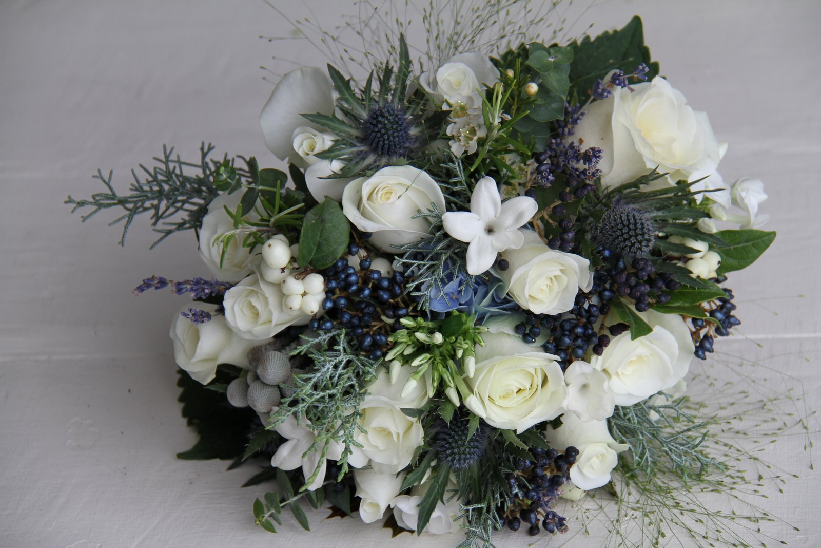 The Flower Magician: Winter Frost Wedding Bouquet