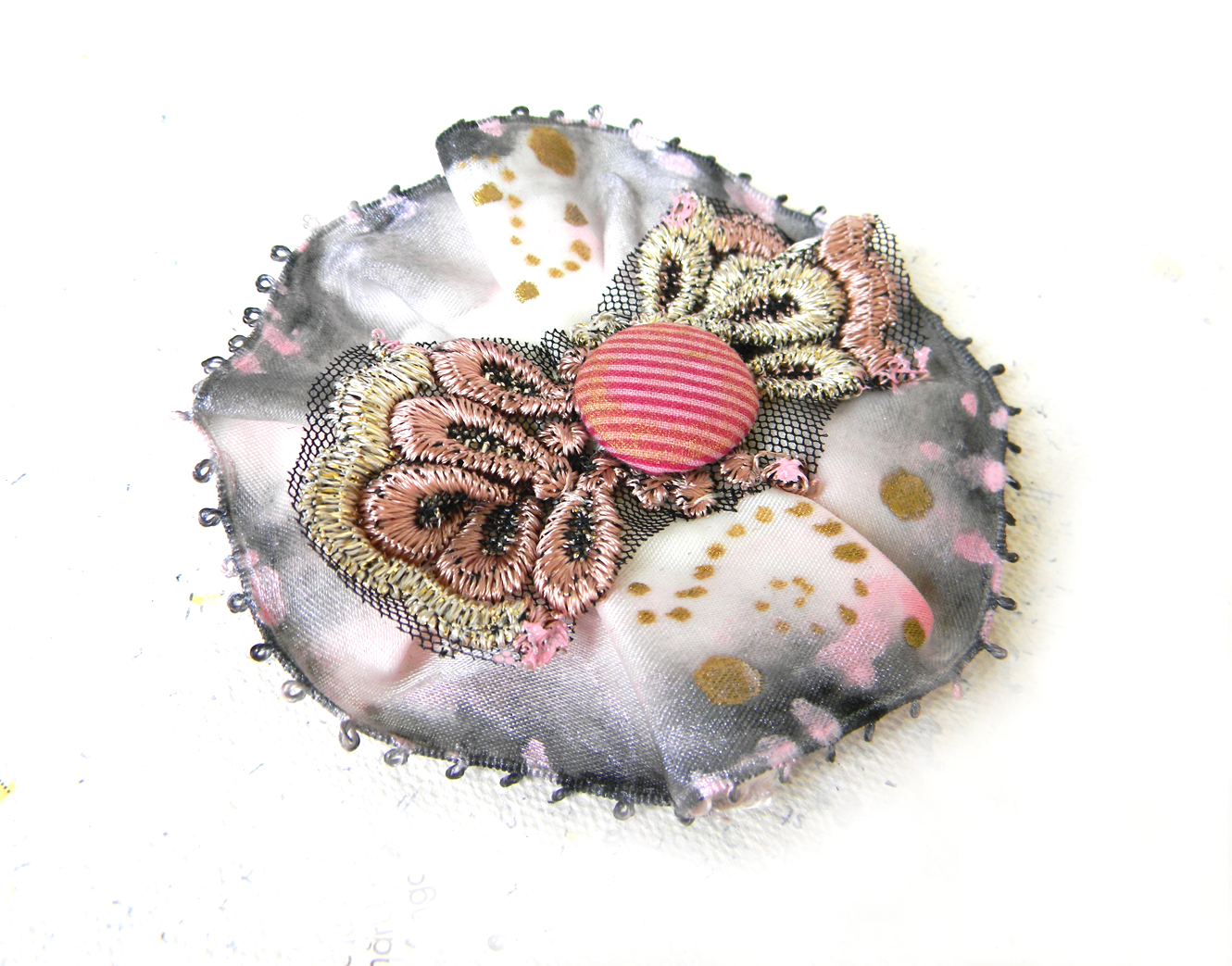 """Blush Twist"" Brooch"