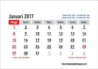 Download gratis draft kalender 2017 lengkap hijriyah dan jawa