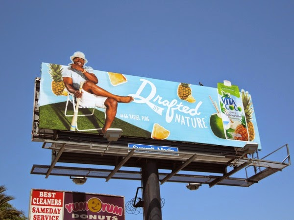 Vita Coco Drafted by Nature Yasiel Puig billboard