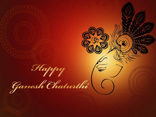 Happy Ganesh Chaturthi Morpankh Wallpaper