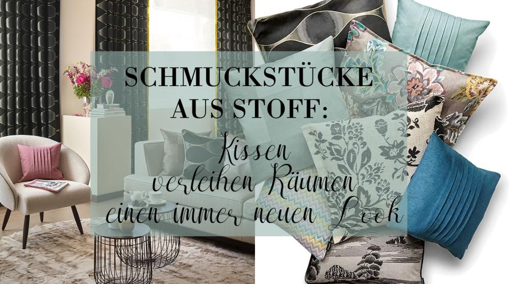 schmuckst cke aus stoff kissen verleihen r umen einen. Black Bedroom Furniture Sets. Home Design Ideas