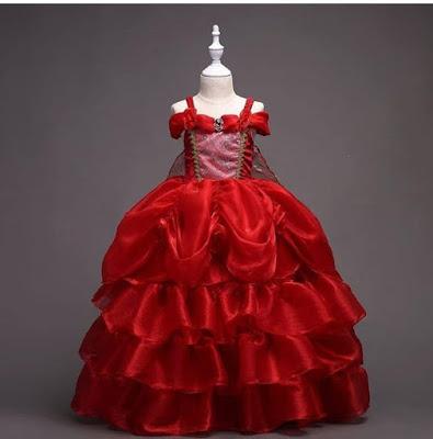 gaun pesta anak dress ulang tahun baju cinderell