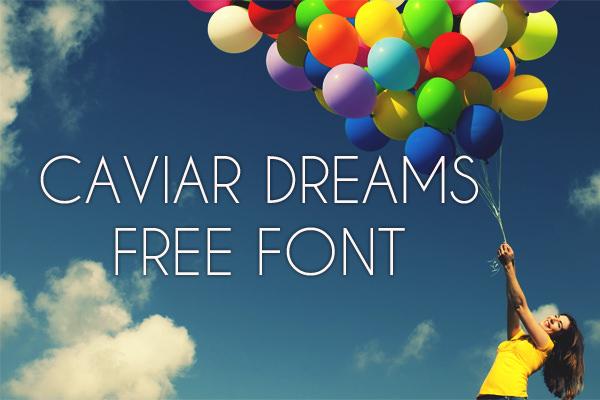 caviar dreams, font, gratis