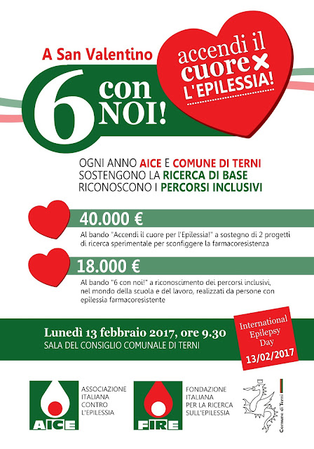13 FEBBRAIO: INTERNATIONAL EPILEPSY DAY - Conferenza stampa AICE e Comune di Terni