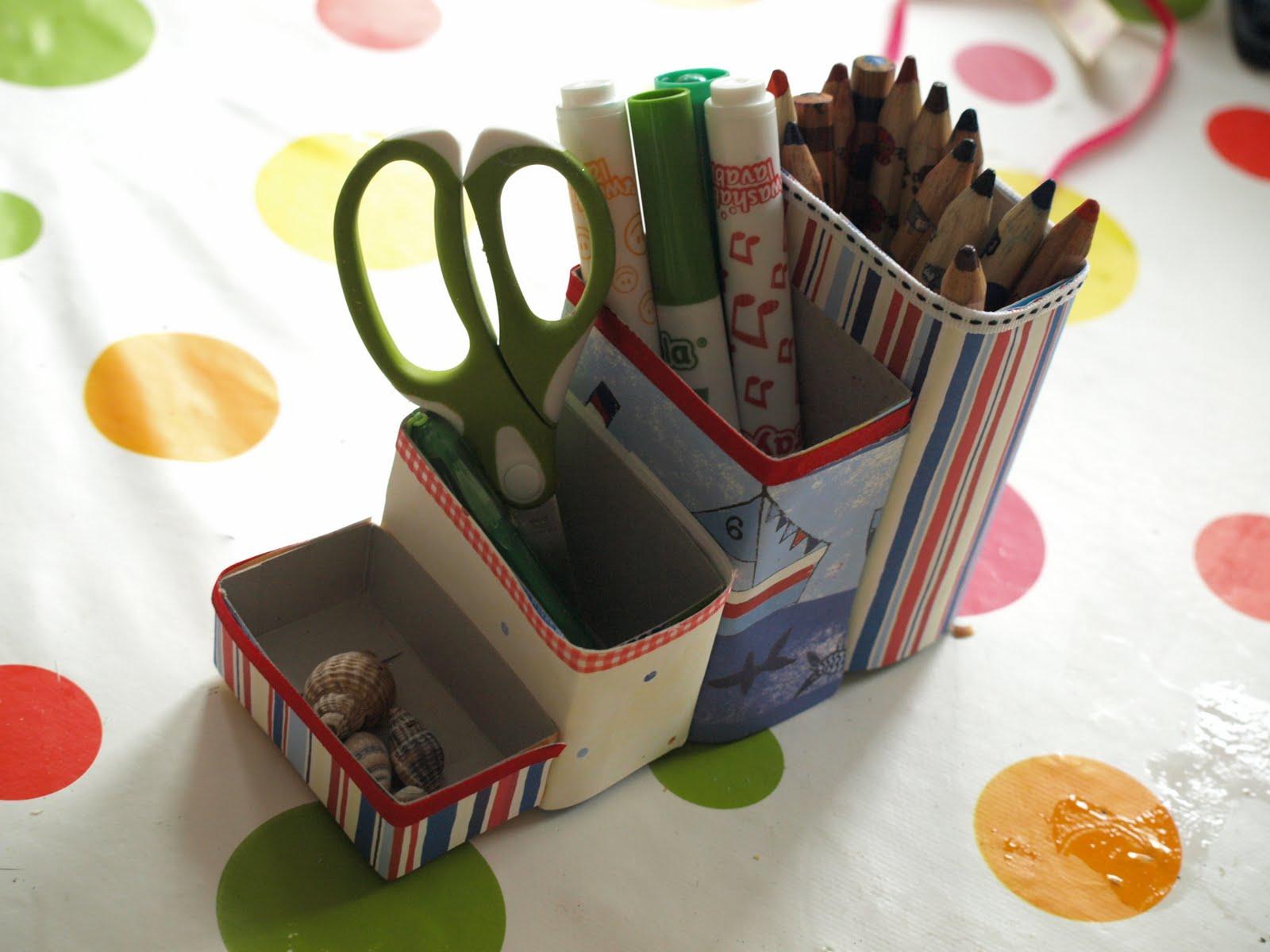 Cereal Box Pencil Pots